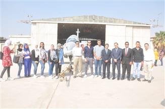 شباب الجامعات في زيارة لمصنع الطائرات التابع للهيئة العربية للتصنيع| صور