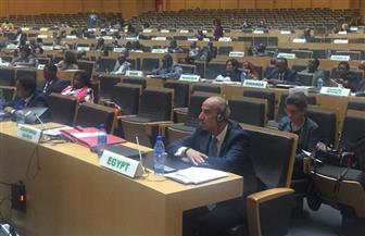 السفير أسامة عبد الخالق يترأس وفد مصر في اجتماع اللجنة الفنية المتخصصة للاجئين والهجرة والنازحين داخليا