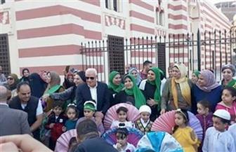 بالأعلام والملابس الخضراء.. موكب مهيب يطوف شوارع بورسعيد احتفالًا  بذكرى المولد النبوي |صور