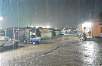 أمطار غزيرة على مدينة الشلاتين بالبحر الأحمر