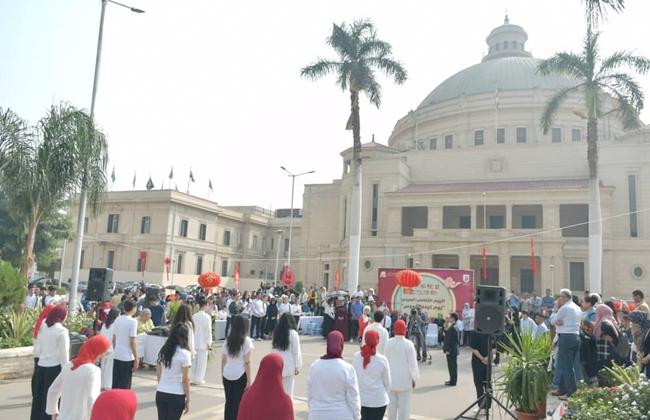 جامعة القاهرة تحتفل باليوم الثقافي الصيني بالحرم الجامعي  صور -