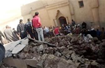 مصرع 3 وإصابة 4 من أسرة واحدة إثر انهيار سقف كنيسة أثرية بدير أبو فانا بصحراء ملوي بالمنيا