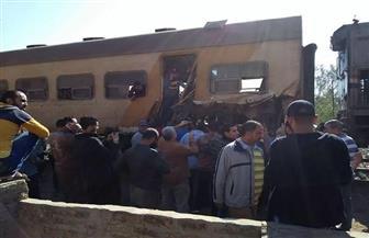 إصابة 3 مواطنين في حادث اصطدام جرار زراعي بقطار بالدقهلية | صور