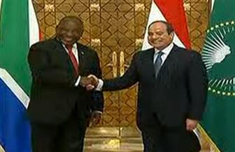 مراسم استقبال رسمية لرئيس جنوب إفريقيا بقصرالاتحادية