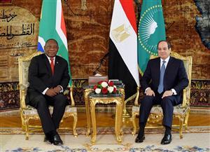 تفاصيل جلسة مباحثات الرئيس السيسي ونظيره الجنوب إفريقي بقصر الاتحادية | صور