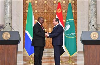 الرئيس السيسي: تعزيز التشاور السياسي بين مصر وجنوب إفريقيا في مختلف القضايا