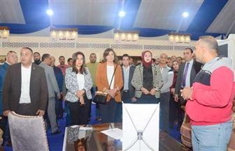 جولة تفقدية لوزيرة الهجرة ومحافظ دمياط بمدينة الأثاث الجديدة برفقة مستثمرين مصريين وأجانب| صور