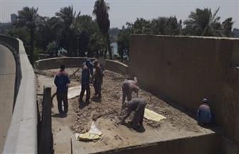 إنشاء سور ضمن أعمال تطوير خط سير نقل المومياوات الملكية لمتحف الحضارات بمصر القديمة