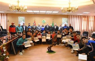 محافظ الشرقية يكرم أبطال المشروع القومي للموهبة والبطل الأوليمبي | صور