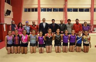 وزير الرياضة يشهد تدريب منتخبي السلاح والجمباز | صور