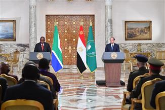 نص كلمة الرئيس السيسي خلال المؤتمر الصحفي المشترك مع نظيره الجنوب إفريقي