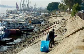 مبادرة لتنظيف البر الغربي لنهر النيل بالأقصر | صور