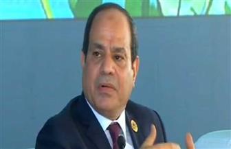 الرئيس السيسي بمنتدى أسوان: حل سلمي شامل للقضية الليبية خلال شهور | فيديو