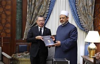 سفير بنما يشيد بوثيقة الأخوة الإنسانية وجهود الإمام الأكبر في نشر التسامح والسلام العالمي | صور