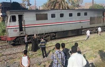 إصابة شاب صدمه قطار خلال عبوره السكة الحديد بالمحلة الكبرى