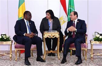 الرئيس السيسي يستقبل نظيره السنغالي ويعرب عن تطلع مصر لتعظيم التعاون في مكافحة الفكر المتطرف | صور