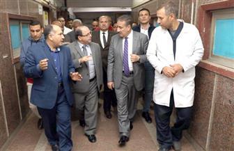 محافظ المنوفية يفسخ التعاقد مع شركة النظافة بمستشفى الشهداء المركزي   صور