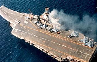 اشتعال النيران في حاملة الطائرات الروسية الوحيدة