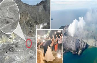 شهرعسل يتحول إلى أحزان بسبب بركان نيوزيلندا | صوروفيديو