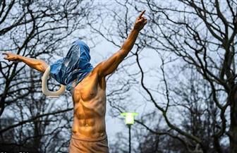 تشويه تمثال إبراهيموفيتش في السويد