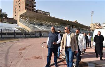 «الأنصاري»: الإستاد سيكون جاهزا لاستضافة مباريات «مصر المقامة» و«الفيوم» | صور