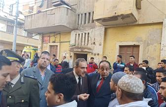 محافظ كفرالشيخ: إخلاء منزل مكون من 3 طوابق وإيواء الأسر بفندق صنعاء | صور