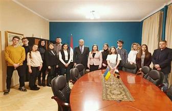 سفارة مصر لدى أوكرانيا تستضيف أمسية ثقافية لطلاب المركز المصري للثقافة العربية في كييف|صور