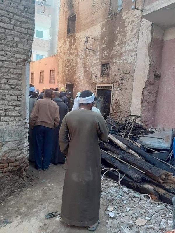 حريق منزل كائن بمدينة أرمنت