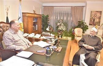 محافظ أسيوط يبحث مع وكيل وزارة الأوقاف تجديد الخطاب الديني وإنهاء الخصومات الثأرية