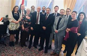 سفير مصر في السويد يستقبل أعضاء وفد البرلمان السويدي قبل زيارتهم إلى القاهرة
