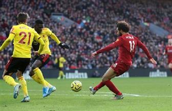 ليفربول ينهي الشوط الأول متقدما على واتفورد بهدف محمد صلاح