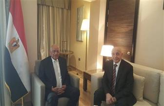 علي عبدالعال يلتقى بالمستشار عقيلة صالح رئيس مجلس النواب الليبى