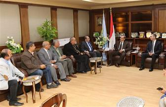 محافظ كفر الشيخ يبحث مع الإصلاح الزراعي استغلال أصول الدولة | صور