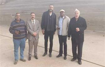 رئيس الاتحاد الإفريقي لكرة السلة يزور صالة 6 أكتوبر