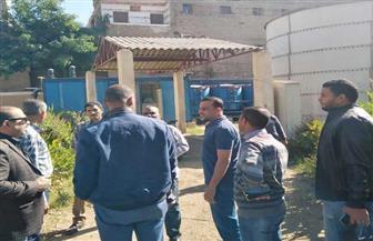 رئيس مدينة أرمنت يبحث إنشاء محطة صرف صحي في الديمقراط | صور