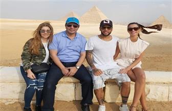 داني ألفيش يبدأ جولته السياحية في مصر