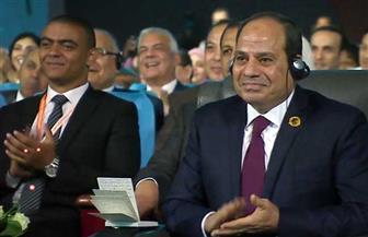 """الرئيس السيسي في """"منتدى شباب العالم"""": التكنولوجيا توفر فرصا لتقليل الخطأ البشري وينعدم معها الفساد"""