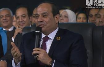 """الرئيس السيسي في """"منتدى شباب العالم"""": إذا فقدنا الفرصة في مواكبة التكنولوجيا فلن نتمكن من اللحاق بها"""