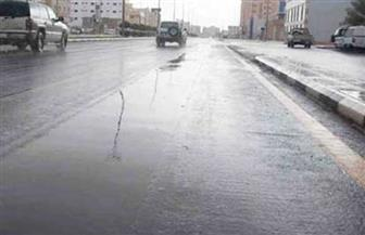 سقوط أمطار في شمال سيناء