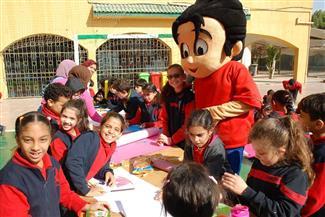 أسرة مجلة علاء الدين في ضيافة مدرسة إخناتون | صور