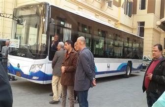 ننشر صور أول أتوبيس يعمل بالكهرباء في شوارع القاهرة