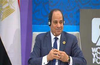 الرئيس السيسي: مصر جزء أصيل من إفريقيا.. وفض النزاعات لا يكون بالعمل العسكري
