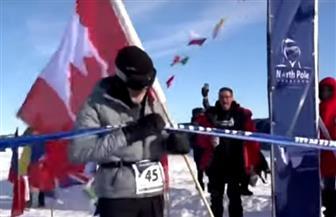 مسن كندي يشارك في ماراثون رياضي في القطب الجنوبي   فيديو