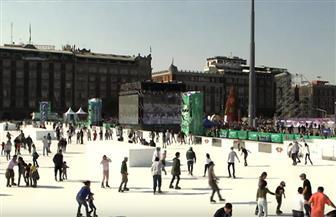 مبادرة مكسيكية لإنشاء أكبر حلبة تزلج من الجليد الصناعي في العالم | فيديو