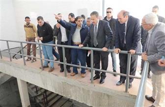 محافـظ المنوفية يتفقد مشروع محطة وشبكات مياه الحامول بتكلفة 450 مليون جنيه  صور