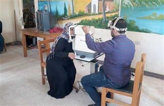 الكشف على 350 مواطنا في قافلة مجانية للعيون بـ«محلة اللبن» بالغربية | صور