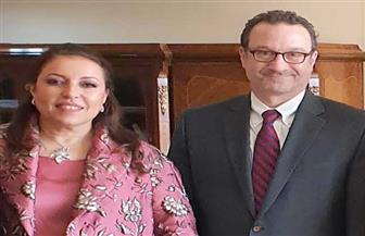 ماهي حسن تستقبل مساعد وزير الخارجية الأمريكي لشئون الشرق الأدنى