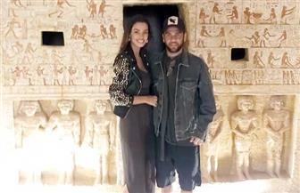 دانى ألفيس وزوجته عارضة الأزياء جوانا سانز يزوران منطقة آثار سقارة| صور