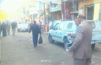 حملة مكبرة لإزالة الإشغالات والتعديات وتسوية الشوارع بمركز ديروط