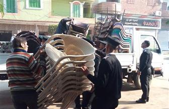 رفع 230 حالة إشغالات فى حملة مرافق فى السنطة بالغربية| صور